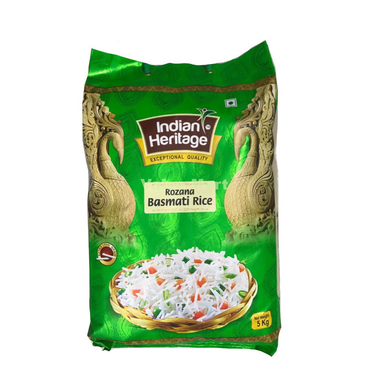 Indian Heritage Rozana Basmati Rice 20kg