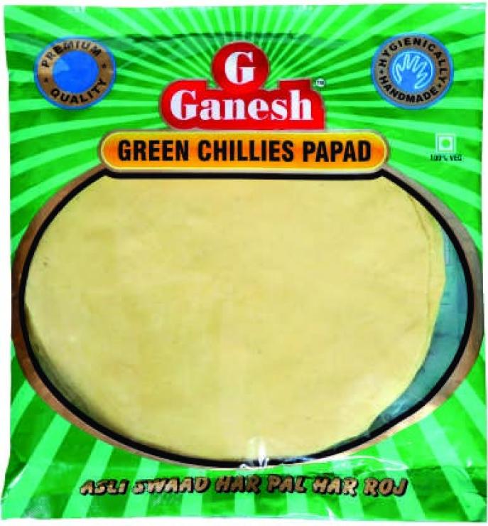 Ganesh Green Chilli Papad 200g