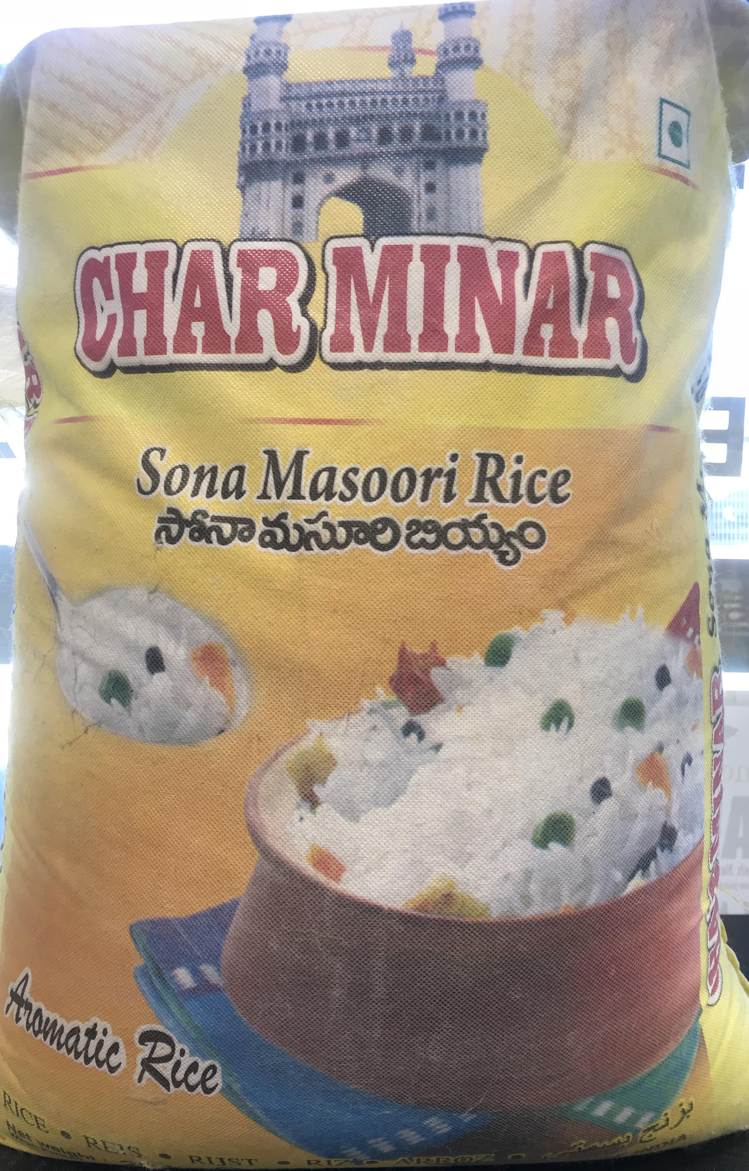 Char Minar Soona Masoori Rice 20kg