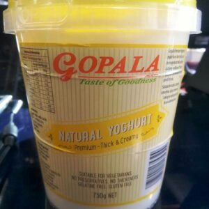 GOPALA NATURAL YOGHURT (THICK & CREAMY) 750G